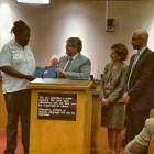 Honored for exemplary service by former Mayor Jim Griffith