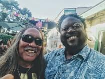 With Hawaiian recording artist Eddie Tanaka