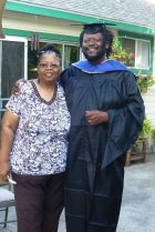 With mom Louise Alexander at Graduation